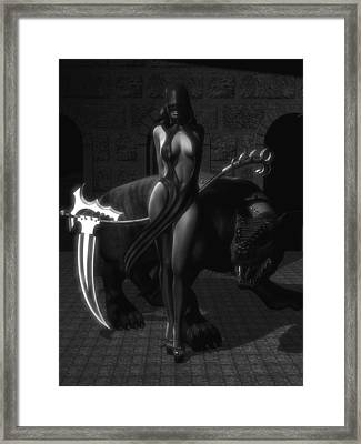The Reaper Framed Print by Alexander Butler