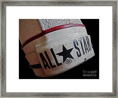 The Converse All Star Rear Label. Framed Print by Don Pedro De Gracia