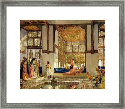 The Reception Framed Print by John Frederick Lewis