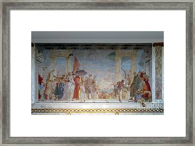 The Reception Of Henry IIi At The Villa Contarini, By Giambattis Framed Print