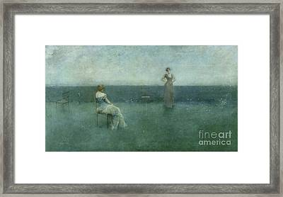 The Recitation Framed Print by Thomas Wilmer Dewing