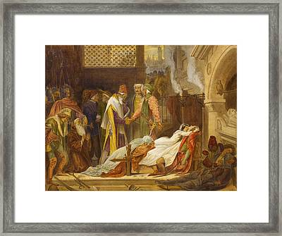 The Reconciliation Of The Montagues And The Capulets Framed Print