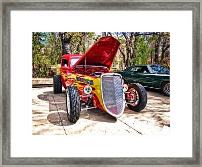 Red And Yellow Ford Terror Framed Print by Thom Zehrfeld