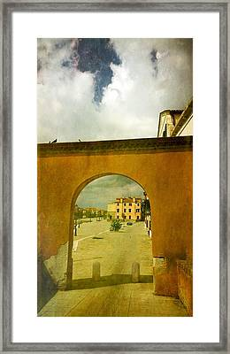 The Red Archway Framed Print by Anne Kotan