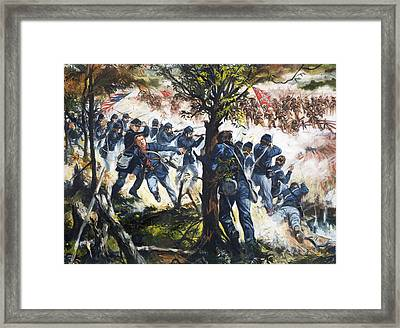 The Red Badge Of Courage Framed Print by Gerry Embleton