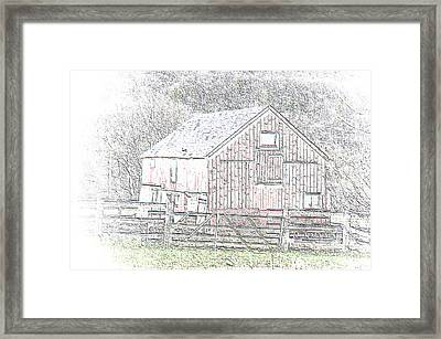 The Red Barn Framed Print
