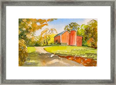 The Red Barn Framed Print by Harding Bush