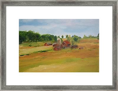 The Red Barn Framed Print by Lisa Konkol