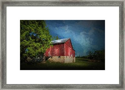 Framed Print featuring the photograph The Red Barn by Marvin Spates