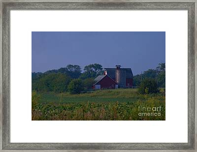 The Red Barn Framed Print by Michelle Hastings