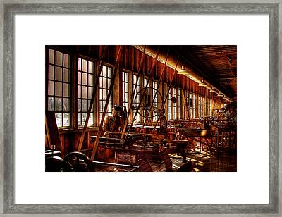 The Red Barn Of The Boeing Company Iv Framed Print