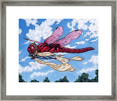 Framed Print featuring the painting The Red Baron by Paxton Mobley
