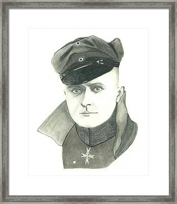 The Red Baron Framed Print by Seventh Son