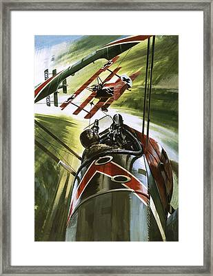 The Red Baron Framed Print by Wilf Hardy