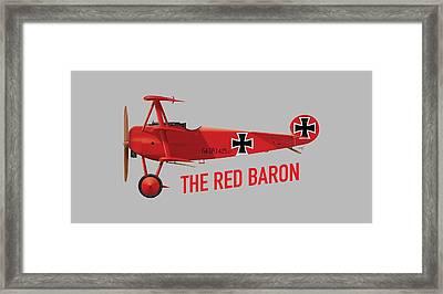 The Red Baron's Fokker Dr.1 - Side Print Framed Print
