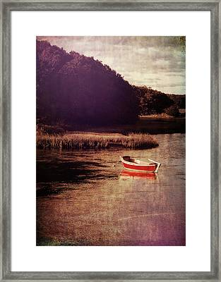The Red Boat Framed Print by JAMART Photography