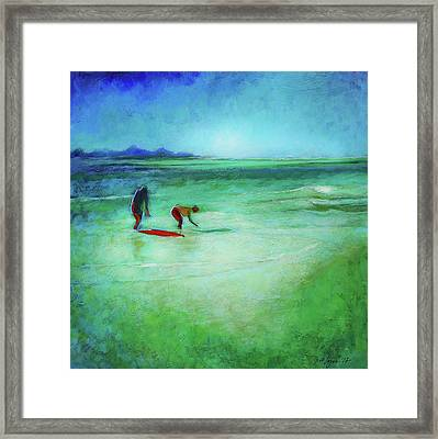 The Red Boogey Board Framed Print