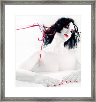 The Red Breeze - Self Portrait Framed Print by Jaeda DeWalt