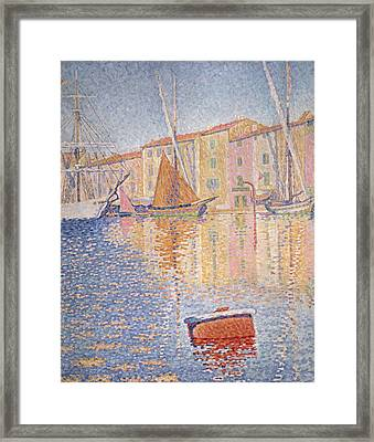 The Red Buoy Framed Print by Paul Signac