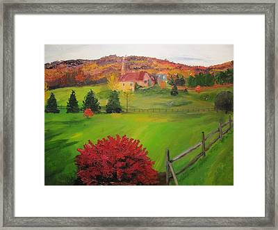 The Red Bush Framed Print by Gloria Condon