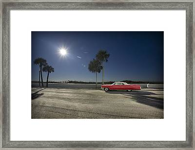 The Red Cadillac Framed Print