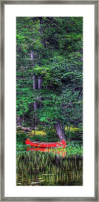 The Red Canoe 3 Framed Print by David Patterson