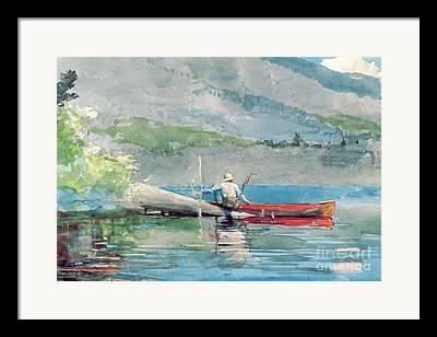 Boating Lake Framed Prints