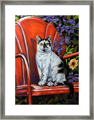 The Red Chair  Framed Print by Cat Culpepper