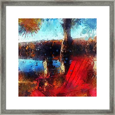Framed Print featuring the photograph The Red Chair by Claire Bull