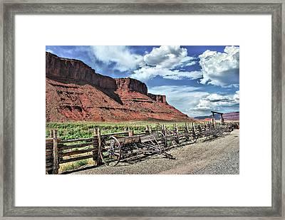 The Red Cliffs Framed Print