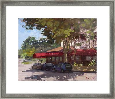 The Red Coach Inn Framed Print by Ylli Haruni