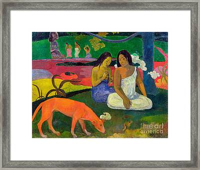 The Red Dog Framed Print by Paul Gauguin