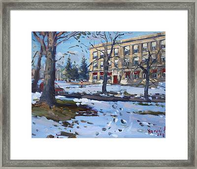 The Red Door At The Nacc Framed Print