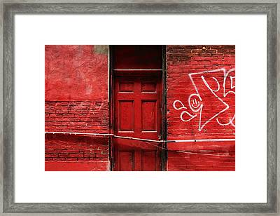The Red Door Bar Framed Print