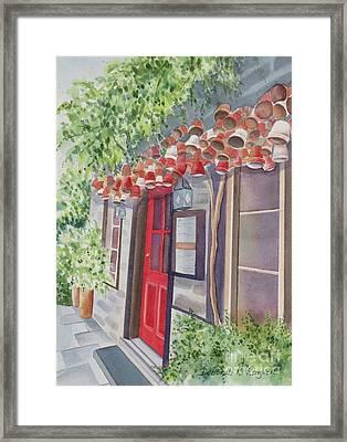 The Red Door Framed Print by Deborah Ronglien
