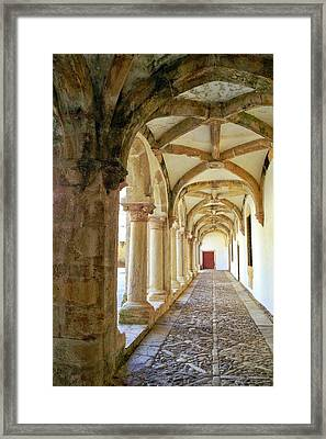 The Red Door In The Loggia Framed Print by Kirsten Giving