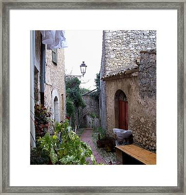 The Red Door Framed Print by Judy Kirouac