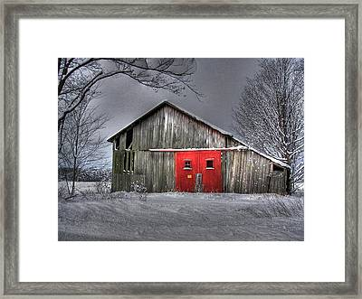 The Red Door Framed Print by Maria Dryfhout