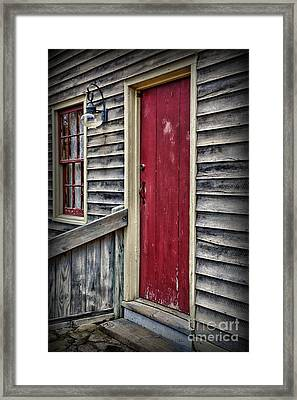 The Red Door Framed Print by Paul Ward