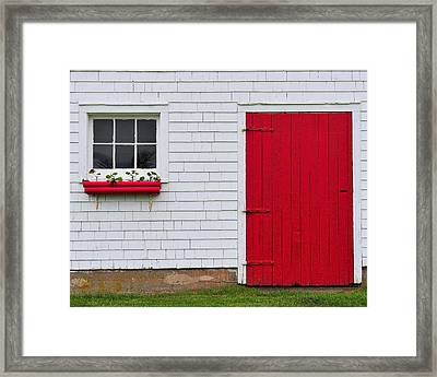 The Red Door Framed Print by Tony Beck