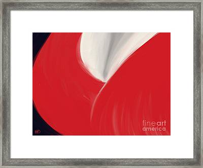 The Red Dress Framed Print by Roxy Riou