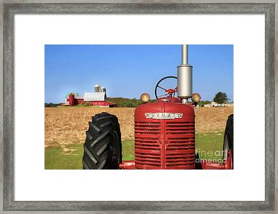 The Red Farmall Framed Print