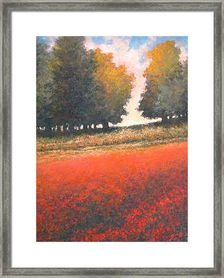 The Red Field #2 Framed Print