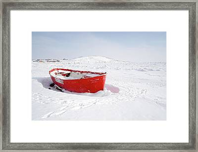 The Red Fishing Boat Framed Print by Nick Mares