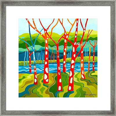 The Red Forest Framed Print by Carola Ann-Margret Forsberg