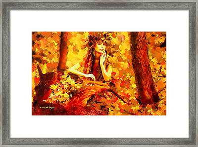 The Red Forest Lady - Da Framed Print