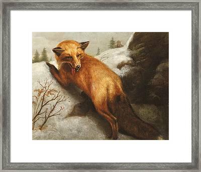 The Red Fox Framed Print by Abbott Handerson Thayer