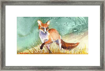 The Red Fox Framed Print by Kristina Vardazaryan
