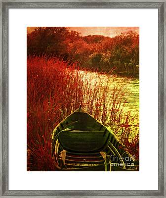 The Red Grass Of Autumn Framed Print