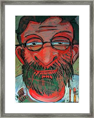 The Red Green Man The Artist Framed Print by Charlie Spear